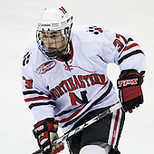 Rob Rassey (Northeastern - 37) - The Northeastern University Huskies defeated the Boston College Eagles 2-1 OT in the NU senior night game on Friday, March 6, 2009 at Matthews Arena in Boston, Massachusetts.