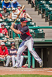 21 March 2015: Atlanta Braves infielder Barrett Kleinknecht in action during a Split Squad Spring Training game against the Washington Nationals at Champion Stadium at the ESPN Wide World of Sports Complex in Kissimmee, Florida. The Braves defeated the Nationals 5-2 in Grapefruit League play. Mandatory Credit: Ed Wolfstein Photo *** RAW (NEF) Image File Available ***