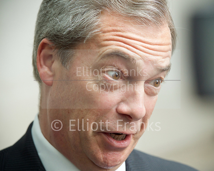 Andrew Marr Show departures<br /> BBC, Broadcasting House, London, Great Britain <br /> 12th March 2017 <br /> <br /> Nigel Farage MEP <br /> <br /> <br /> <br /> Photograph by Elliott Franks <br /> Image licensed to Elliott Franks Photography Services