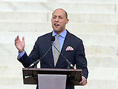 Alan van Capelle, Chief Executive Officer, Bend the Arc, A Jewish Partnership for Justice, makes remarks at the Let Freedom Ring ceremony on the steps of the Lincoln Memorial to commemorate the 50th Anniversary of the March on Washington for Jobs and Freedom<br /> Credit: Ron Sachs / CNP