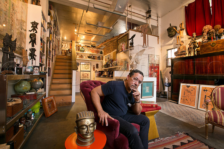 The studio library of artist Edouard Duval Carrie in Little Haiti on Tuesday, October 14, 2014.