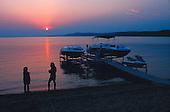 Sunset on Crystal Lake, Beulah, Michigan