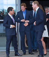 Kate, Duchess Of Cambridge together with Princes William & Harry at Warner Bros Studios