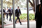 Republican vice presidential candidate Rep. Paul Ryan arrives for a tour at University of South Florida in Tampa, Florida, October 19, 2012.