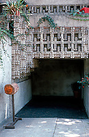 Lloyd Wright: Wright House Entrance.  Photo '82.