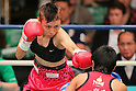 Mari Ando (JPN), SEPTEMBER 22, 2011 - Boxing : Mari Ando of Japan in action against Amara Kokietgym of Thailand during the WBA Female Light Minimum title weight bout at Korakuen, Tokyo, Japan. Mari Ando won the fight on points after ten rounds. (Photo by Yusuke Nakanishi/AFLO) [1090]