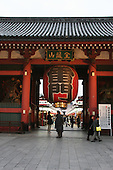 Mar 6, 2006; Tokyo, JPN; Asakusa.The Kaminari-mon (Thunder gate) marks the main entry way to the Senso-ji temple...Photo credit:  Darrell Miho
