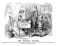 "The Holiday Letter. Royal Mistress (writes). ""In the case of masters Aberdeen and Russell, I regret to say that the most extreme idleness has characterised the whole half-year."""