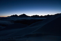 Sunrise over Valais Alps