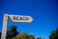 Beach sign,  Queensland, Australia.Photo: Joliphotos.com