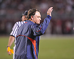 Ole Miss Head Coach Houston Nutt reacts at Bryant-Denny Stadium in Tuscaloosa, Ala.  on Saturday, October 16, 2010. Alabama won 23-10.