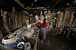 A woman cooks tortillas in Las Flores, Ixcan, Guatemala.
