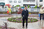 Famed horse race trainer Nicholas Zito watches the Kentucky Oaks race results in disappointment.