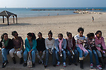 African asylum-seeker women during a protest march through Tel Aviv, calling the government to recognize them as refugees and to release those Africans who are held in detention facilities.