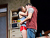 The Motherfucker With the Hat <br /> by Stephen Adly Guirgis <br /> directed by Indu Rubasingham <br /> at the Lyttelton Theatre, National Theatre, London, Great Britain <br /> press photocall <br /> 15th June 2015 <br /> <br /> Flor De Liz Perez as Veronica<br /> <br /> Ricardo Chavira as Jackie <br /> <br /> <br /> <br /> <br /> Photograph by Elliott Franks <br /> Image licensed to Elliott Franks Photography Services
