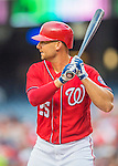 23 July 2016: Washington Nationals first baseman Clint Robinson stands at bat against the San Diego Padres at Nationals Park in Washington, DC. The Nationals defeated the Padres 3-2 to tie their series at one game apiece. Mandatory Credit: Ed Wolfstein Photo *** RAW (NEF) Image File Available ***