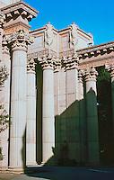 Bernard Maybeck: Palace of Fine Arts, San Francisco, 1915. Columns. Photo '83.