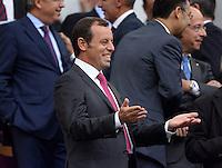 FUSSBALL  INTERNATIONAL  PRIMERA DIVISION  SAISON 2013/2014   10. Spieltag  El Clasico   FC Barcelona - Real Madrid         26.10.2013 Barca Praesident Sandro Rosell