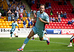 St Johnstone v Bristol City....28.07.12  Pre-Season Friendly.Trialist Rowan Vine celebrates the first goal.Picture by Graeme Hart..Copyright Perthshire Picture Agency.Tel: 01738 623350  Mobile: 07990 594431