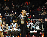 "Ole Miss head coach Renee Ladner vs. Arkansas at the C.M. ""Tad"" Smith Coliseum in Oxford, Miss. on Thursday, January 12, 2012. Ole Miss won 60-54."
