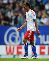 FUSSBALL   1. BUNDESLIGA   SAISON 2011/2012    6. SPIELTAG Hamburger SV - Borussia Moenchengladbach            17.09.2011 Enttaeuschter Hamburger: Michael MANCIENNE (Hamburg)