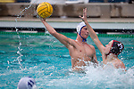 Los Altos senior Ian McColl tries to shoot the ball past a Sacred Heart Prep player at the Central Coast Section Division II boys water polo final Nov. 17.<br />