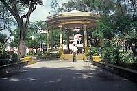 Main square in the city of Barahona, Dominican Republic