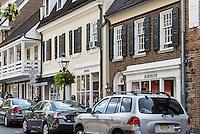 Quaint shops at Palmer Square, Princeton, New Jersey, USA