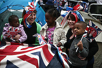 royal wedding crowds and campers at westminster abbey, the mall and buckingham palace