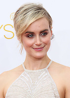LOS ANGELES, CA, USA - AUGUST 25: Actress Taylor Schilling arrives at the 66th Annual Primetime Emmy Awards held at Nokia Theatre L.A. Live on August 25, 2014 in Los Angeles, California, United States. (Photo by Celebrity Monitor)