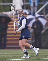 University of New Hampshire attacker Becca Graves (1) looks to pass. Boston College defeated University of New Hampshire, 11-6, at Newton Campus Field, May 1, 2012.