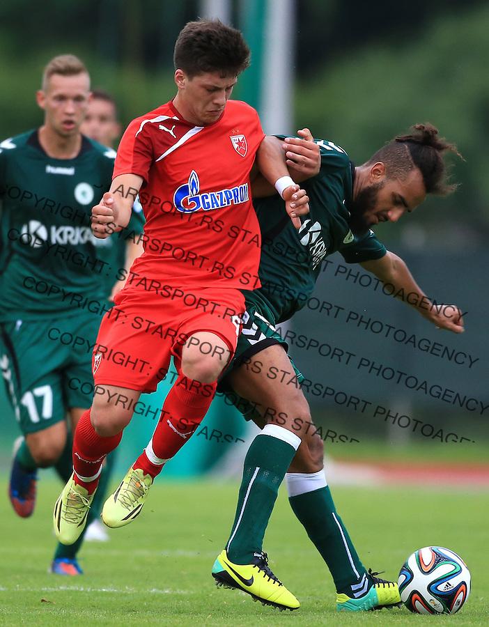 Fudbal season 2013-2014<br /> FK Crvena Zvezda pripreme<br /> Crvena Zvezda v Krka<br /> Luka Jovic (L)<br /> Novo Mesto, 07.12.2014.<br /> foto: Srdjan Stevanovic/Starsportphoto &copy;