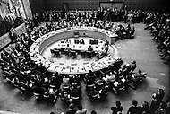 08 Oct 1973 --- UN Security Council meeting on demand of the Soviet Union and the USA. --- Image by © JP Laffont