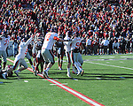 Ole Miss kicker Bryson Rose (81) makes a field goal as time expires to beat Arkansas at War Memorial Stadium in Little Rock, Ark. on Saturday, October 27, 2012. Ole Miss won 30-27...