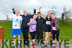 participants who took part in the Kerry's Eye Valentines Weekend 10 mile road race on Sunday were John Daly, Tina Curtin, Fiona O'Connor, Tommy Horn, Maggie Large Vivian JUFFS