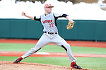 21 February 2015: Hartford's Brian Murphy. The Duke University Blue Devils hosted the University of Hartford Hawks in an NCAA Division I Men's baseball game at Jack Coombs Field in Durham, North Carolina. Duke won the game 5-1.