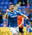 St Johnstone v Dundee United...26.09.15  SPFL   McDiarmid Park, Perth<br /> Graham Cummins celebrates his goal<br /> Picture by Graeme Hart.<br /> Copyright Perthshire Picture Agency<br /> Tel: 01738 623350  Mobile: 07990 594431
