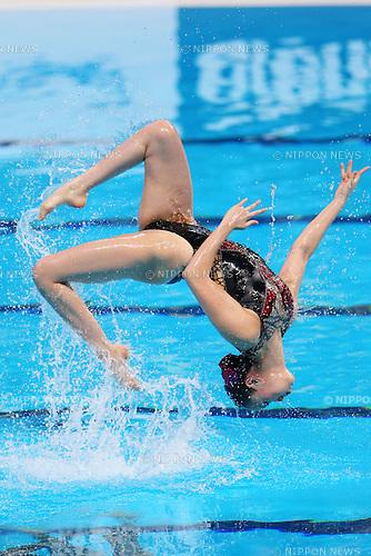 Yukiko Inui (JPN), JULY 30, 2015 - Synchronised Swimming : 16th FINA World Championships Kazan 2015 Duets Free Routine Final at Kazan Arena in Kazan, Russia. (Photo by Yohei Osada/AFLO SPORT)