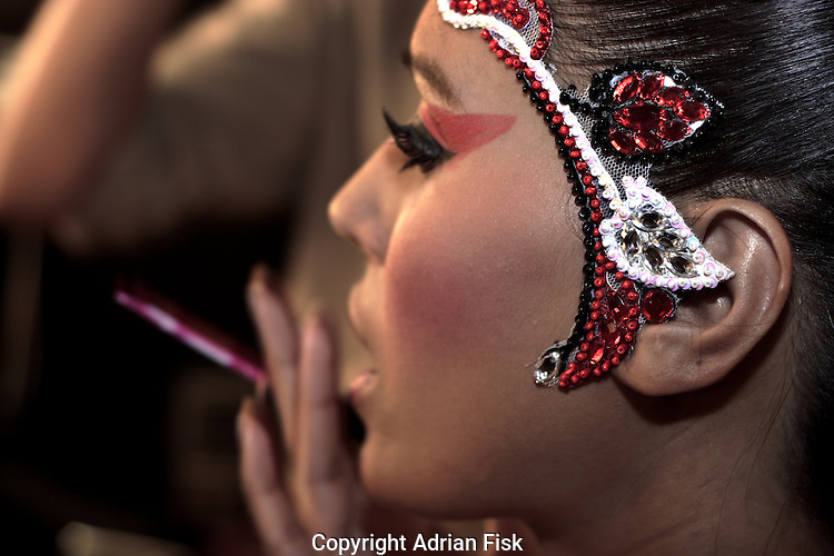 Make up for Manish Arora's show - India fashion week, Autumn - winter collections, New Delhi, April 2006