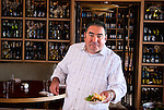 Chef Emeril Lagasse with the snapper ceviche salad in the Fish Out of Water Retaurant at the WaterColor Inn and Resort in Santa Rosa Beach FL as seen on Cooking Channel's Emeril's Florida, Season 1.
