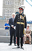 Raising the flag for Armed Forces Day <br /> at City Hall, London, Great Britain <br /> <br /> 20th June 2011<br /> <br /> Boris Johnson <br /> Mayor of London<br /> <br /> Brigadier Matthew Lowe MBE.<br /> <br /> Photograph by Elliott Franks