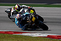 February 4, 2010 - Kuala Lampur, Malaysia - Spanish rider Alvaro Bautista (Rizla Suzuki MotoGP) powers his bike for testing on Sepang International Circuit on February 4, 2010. (Photo Andrew Northcott/Nippon News)
