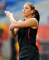 Hope Solo of team USA during the FIFA Women's World Cup at the FIFA Stadium in Sinsheim, Germany on July 2nd, 2011.