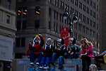 Children watch the annual Thanksgiving day parade in New York, November 22, 2012. . Photo by Eduardo Munoz Alvarez / VIEWpress.