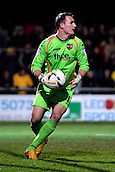 15.01.2013. Torquay, England. Exeter City goalkeeper Artur Krysiak in action during the League Two game between Torquay United and Exeter City from Plainmoor.