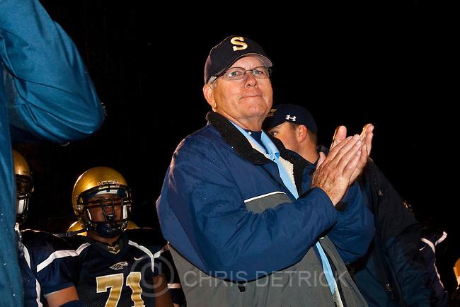 Chris Detrick  |  The Salt Lake Tribune.Skyline Head Coach Roger Dupaix during fourth quarter of the game at Skyline High School Friday October 7, 2011.