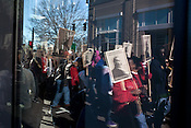 January 18, 2010. Raleigh, North Carolina..  Hundreds marched through downtown Raleigh to honor the life of Dr. Martin Luther King Jr. and his contributions to the civil rights movement in the United States.