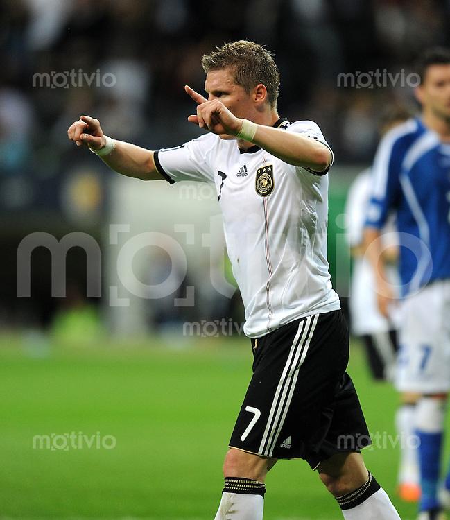Fussball International:  Testspiel       Deutschland - Bosnien Herzegowina          03.06.2010 JUBEL Bastian SCHWEINSTEIGER (Deutschland)