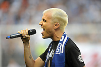 Sporting Park, Kansas City, Kansas, July 31 2013:<br /> National Anthem sang by Tyler Glenn of Neon Trees.<br /> MLS All-Stars were defeated 3-1 by AS Roma at Sporting Park, Kansas City, KS in the 2013 AT &amp; T All-Star game.