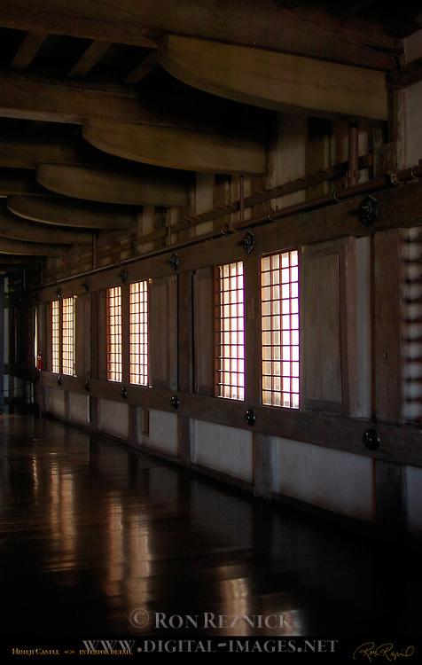 Himeji Castle third floor interior detail Shirasagi-jo White Heron Castle Himeji Japan
